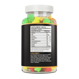 500mg CBD 30 count hemp gummy bear vite leaf supplement facts