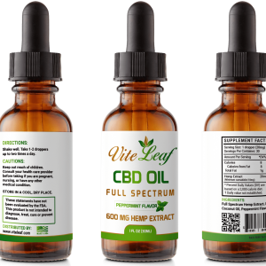 600mg cbd mint oil tincture